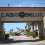 The Cabo Bello Entrance Sign