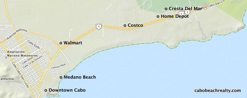 Cresta Del Map