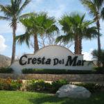 The Cresta Del Mar Entrance Sign