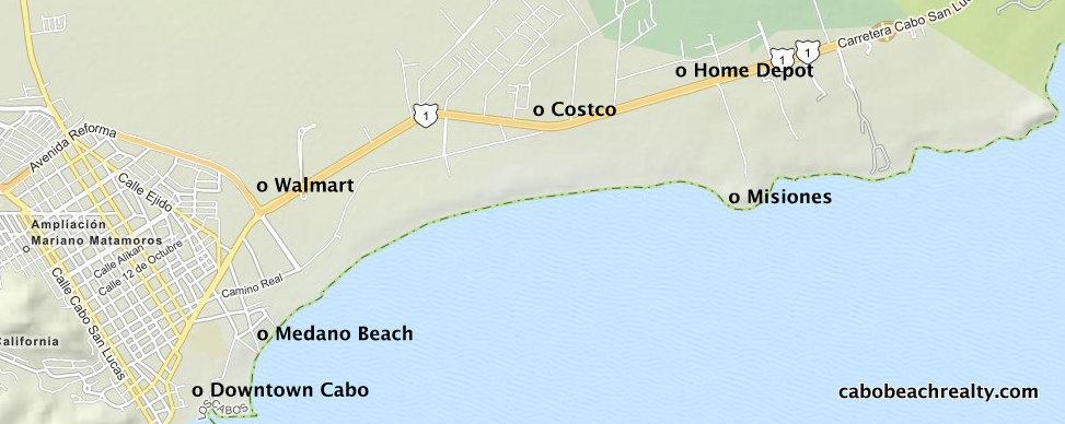 Misiones Condos for Sale - Cabo San Lucas Real Estate on map of cabo villas, map of cabo bello, map of hacienda del mar, map of cabo del sol, map of villa del arco, map of downtown cabo, map of villa del palmar,