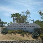 The Esperanza and Punta Ballena entrance sign