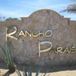 The Rancho Paraiso entrance sign